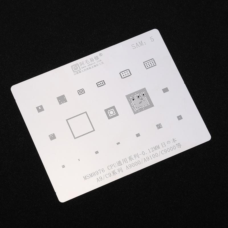 BGA Reballing Stencil, Tamir İstasyonu İçin Samsung S6 S6 + Note5 S8 S8 + Note8 S9 S9 + S7 Serisi NAND PCB CPU Lehim Template Yapıştır