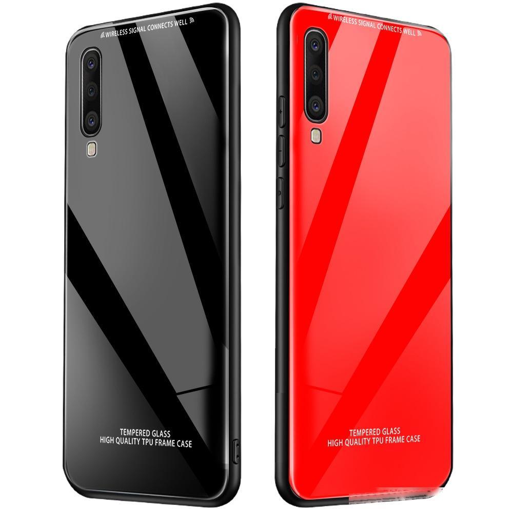 OPPO A9 A5 2019 A11X RENO 2 2Z ACE realme 5 yanlısı C2 Q İçin Temperli Arka telefon kılıfları vaka