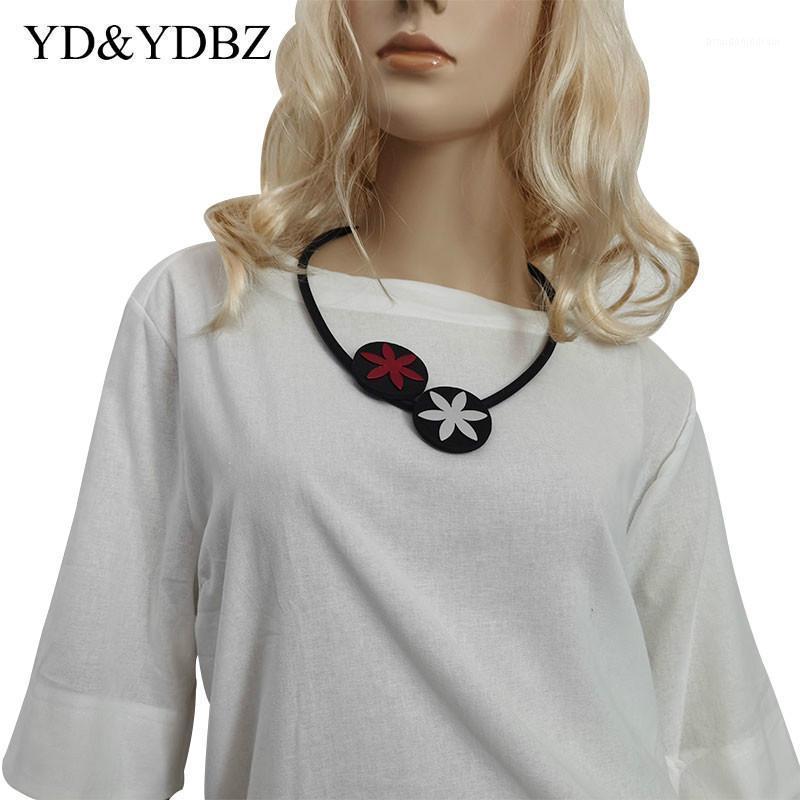 Círculo de goma Collar de gargantillas Mujeres Vintage Joyería para estilo punk Calidad Hecho A Mano Collares Arte de Boda Boho Insignias 2020 New1