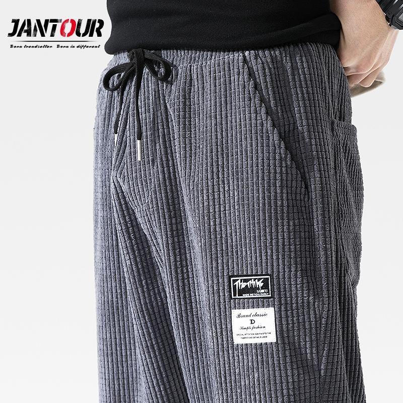 الرجال السراويل العلامة التجارية 2021 الخريف كودري عارضة الحريم الرجال الملابس الركض اليابانية الشارع الشهير العمل سراويل الهيب هوب تراكسويت M-4XL