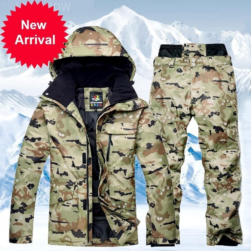 Новый мужской водонепроницаемый термический костюм сноуборд брюки на открытом воздухе на лыжах на лыжах на лыжах