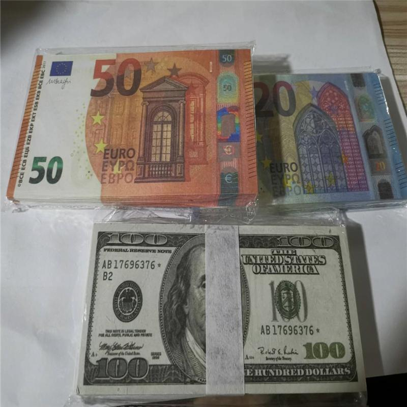 Cross border Prop euro Money Banknote Fake USD 100 Play Money Normal Size Dollar Banknote Children's Creative Gift Movie Money