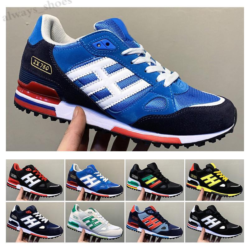 Adidas Originals ZX750 2021 Originals Zx750 Shoes Cheap Fashion Suede Patchwork High Quality Athletic Wholesale zx 750 Breathable Comfortable Trainers TL16