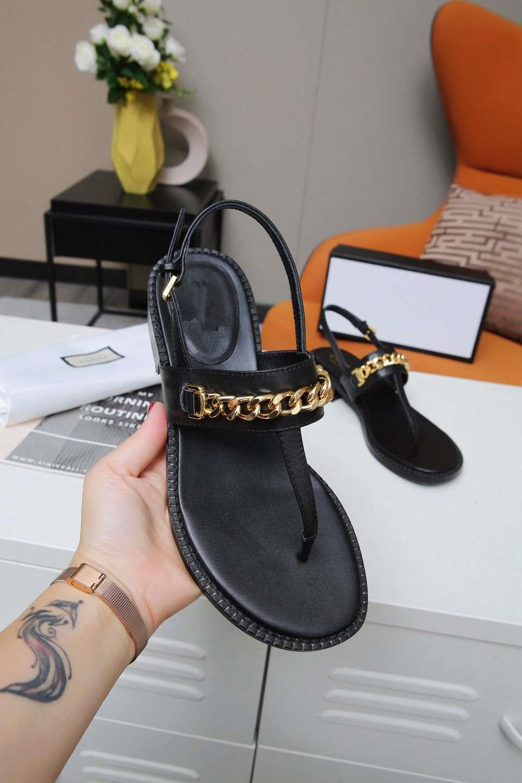 Gucci Sandálias femininas Flats Designer cria alta qualidade Summer Beach As sandálias casuais estão disponíveis em uma variedade de cores 12ndz