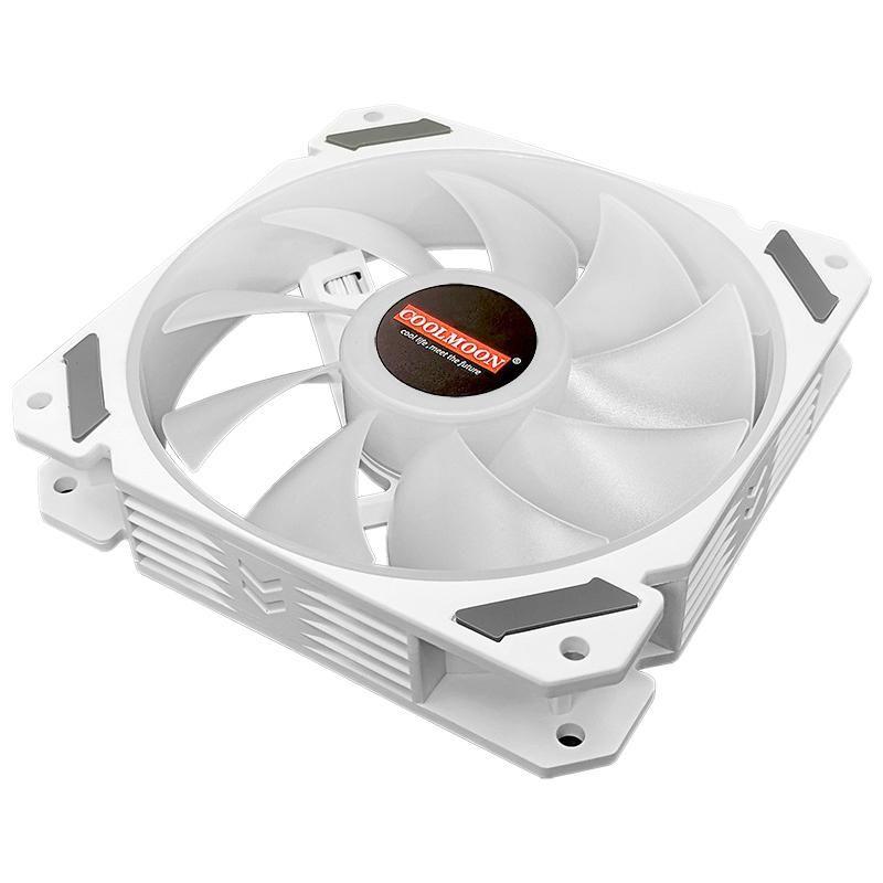 Los refrigeradores de los ventiladores Coolmoon Wind North PWM, el ventilador controlado por temperatura, el fan de la iluminación de 12cMarGB, el ventilador de chasis admite Asus, MSI y otras placas base