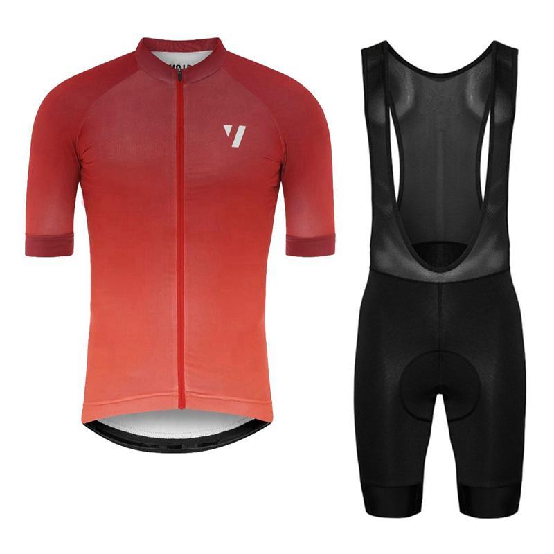 2019 void 팀 여름 자전거 저지 세트 레이싱 자전거 셔츠 턱받이 반바지 남자 사이클링 의류 Maillot Ciclismo Hombre Y030105