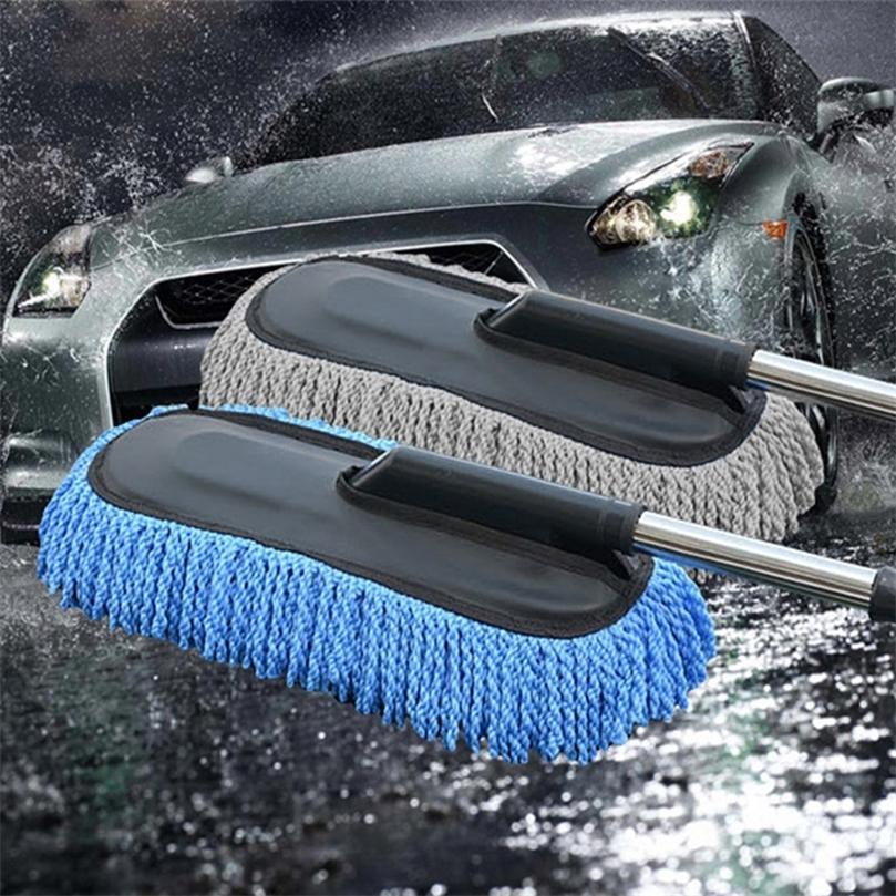 Carro Especial Wax Tow Limpeza Mop Tweezers Macio Cabelo Retrátil Água Longa Punho de Remoção de Poeira Pincel de lavagem de carro 201214