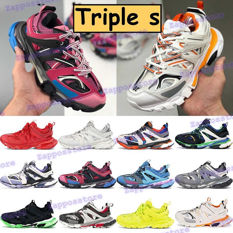 2021 Triple S DAD Обувь бегун синий белый оранжевый модные мужские бегущие кроссовки черное красное желтое свечение в темно-розовых женских кроссовки