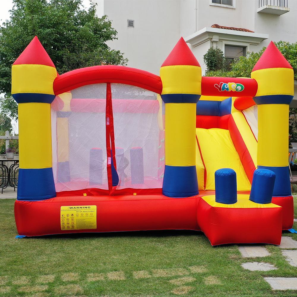 Yard Home Usage Château gonflable Castle Bouncy Château de saut Château de saut Montante Maison Combo Slide Moonwak Trampoline Jouets avec ventilateur