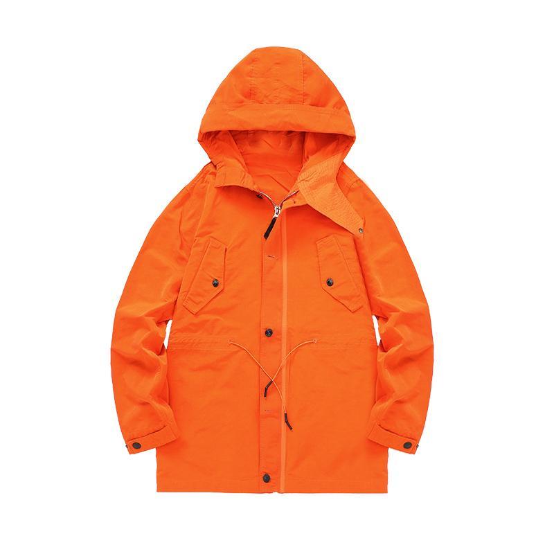Topstoney 2020 KONNG GONNG NEUER FRÜHLING UND HERBST MITTELLÄNGE Jacke Mode Marke Hohe Qualität Windjacke Massivfarbe