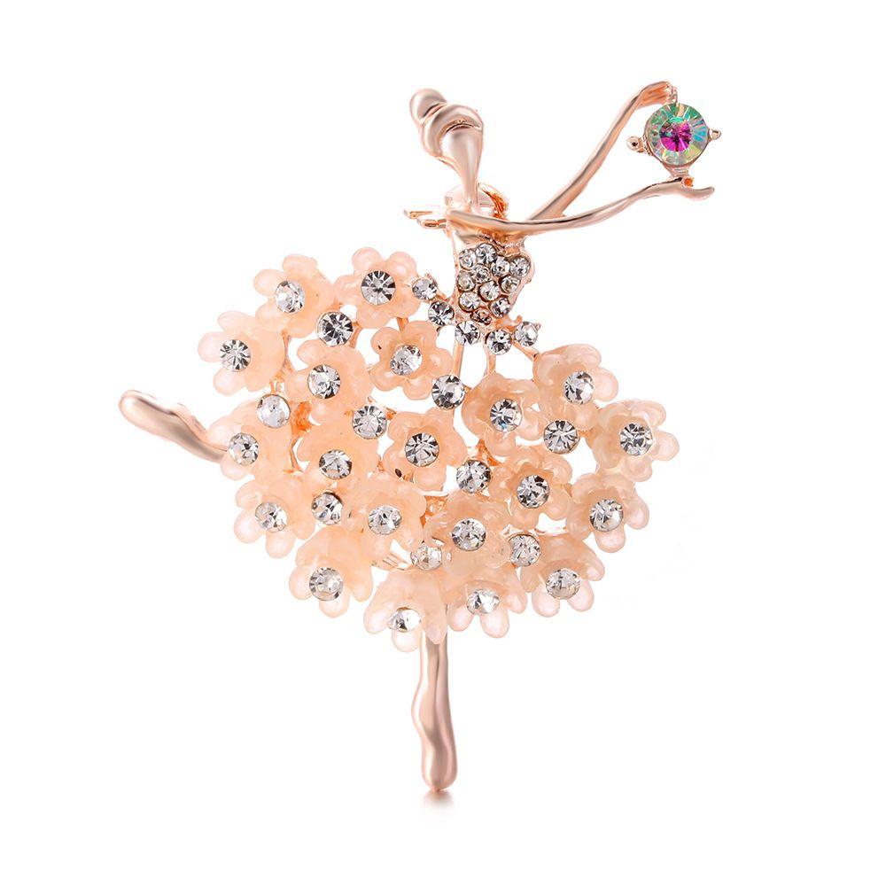 Nuova spilla di spilla del diamante di cristallo Donne Designer Gioielli Brooch Brooch Abbigliamento Abiti Spille con scatola