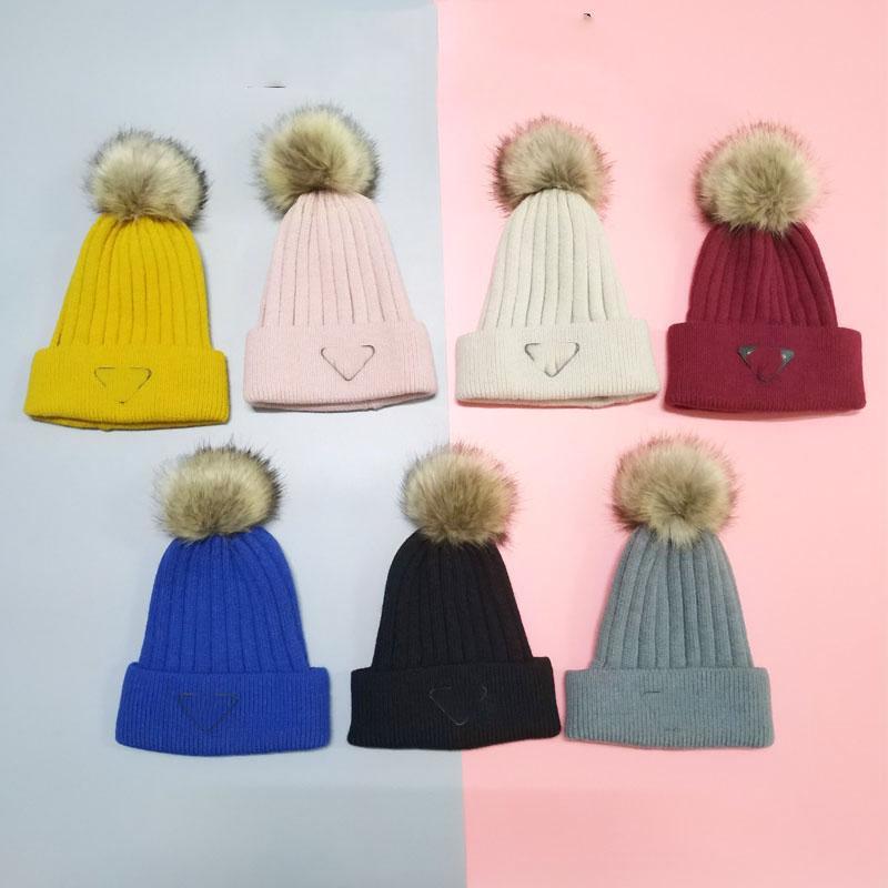 Mode Beanie Männer und Frauen Hochwertige Wollkugel Strickmütze Herbst und Winter Atmungsaktive warme Hut 7 Farben