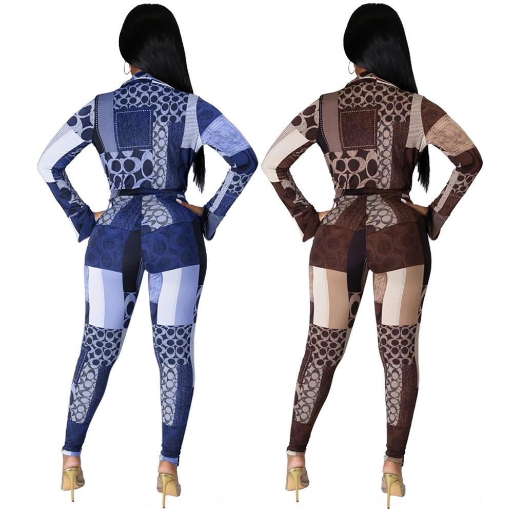 YKK2 Женщины Две части Наряды Сплошной Цвет Спортивная одежда Рукава Набор Плиссированные Брюки Дамы Новые Моды Брюки Top Bat Tracksuits 2020