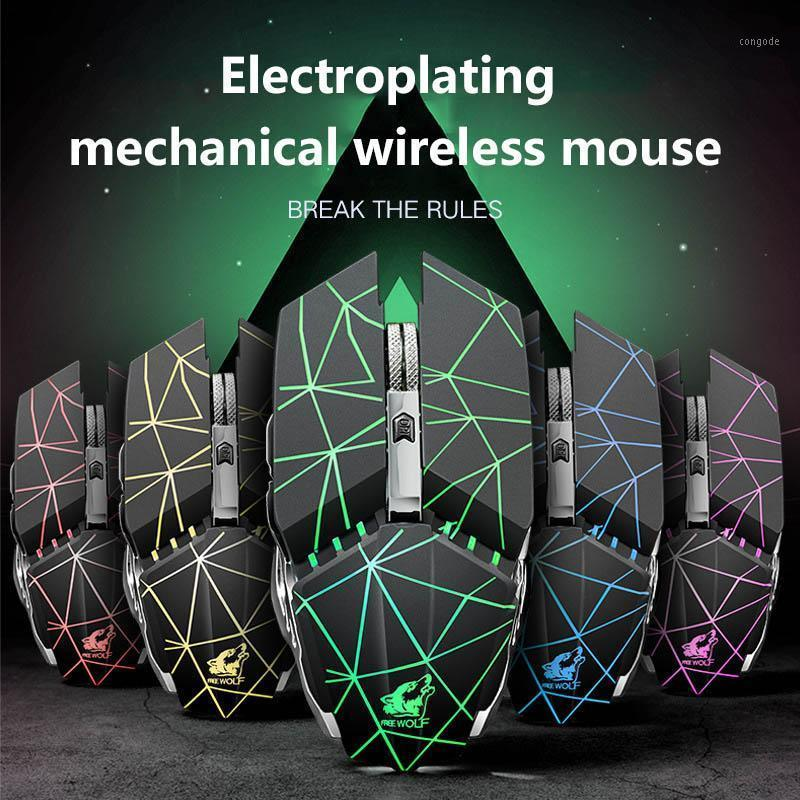 Mice X11 2.4G Wireless Rechargeable Mouse Mechanical Adjustable DPI Silent Gaming Compatible With Windows 7/8/10/linux/mac1