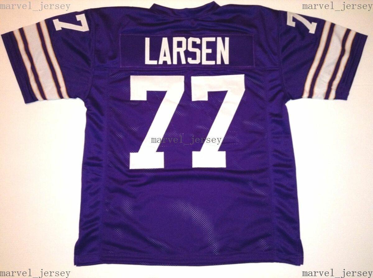 Ucuz Özel Dikişli Gary Larsen Mor Jersey Erkek Kadın Gençlik Futbol XS-5XL