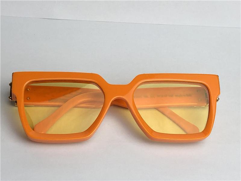 New men design sunglasses Millionaire 1165 square frame vintage shiny gold summer UV400 lens style laser top quality 96006