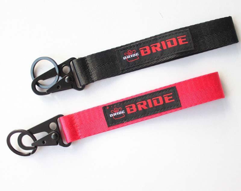 10шт автомобиль логотип мотоцикл точечный бренд бренд короткий ремешок с карабинцем и ключевым кольцом спортивный запястье ремешок на ремешок