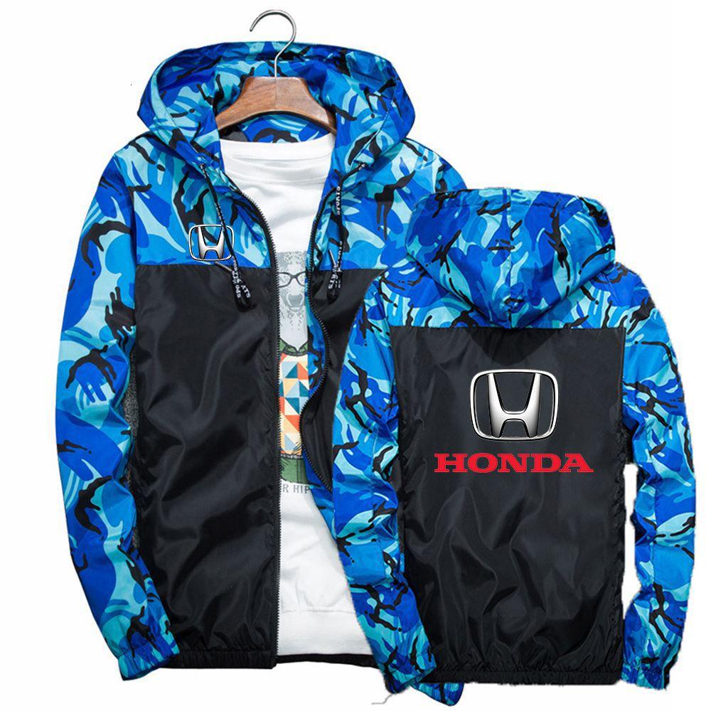 2020 Весна Herf Honda Автомобиль Мужчины Windjack Сразу Harajuku Camou Slander Красивые Спортивные Сращивание Толстовки Одежда Куртки