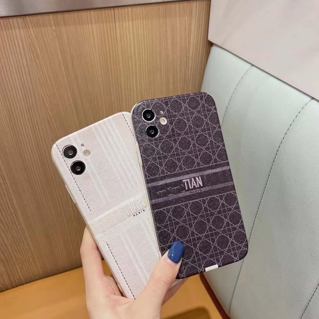 Moda Tasarımcısı iPhone Kılıfları için yeni iPhone12 12Pro 12mini 12promax Tüm boyut 7/8 / SE2 7P / 8P X / XS XR 11promax harfleri ile