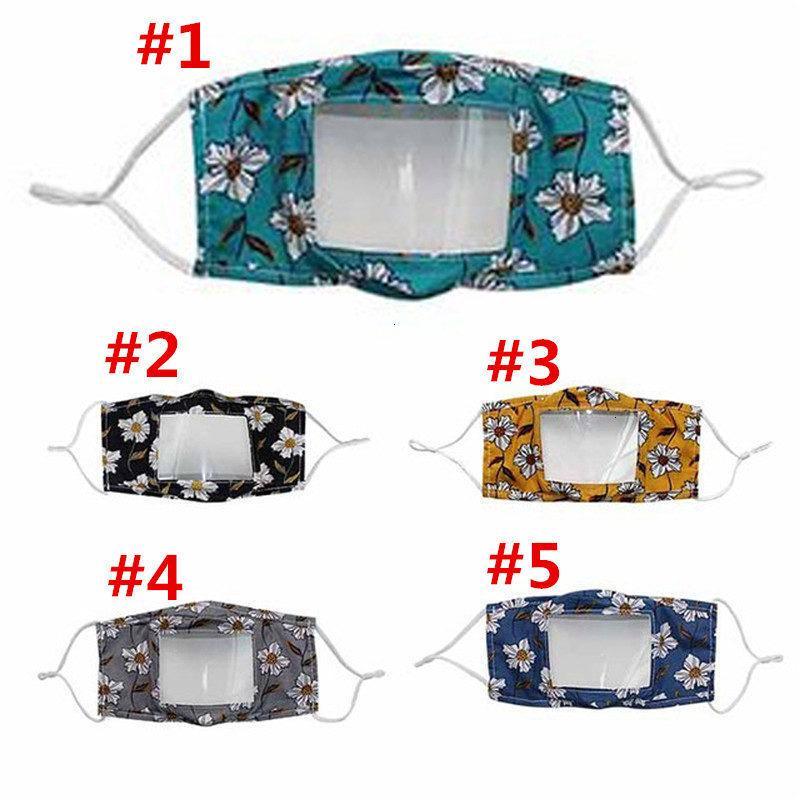 Niños LIP LIBRE IMAGEN DE PET CLEAR Anti polvo impreso Sordueba Muga Cubierta de la boca Máscaras Mascarillas para niños Mascarilla al aire libre 50pcs T1I2171