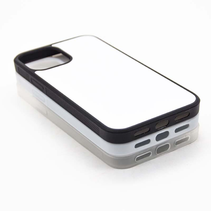 iPhone 11 / Pro / Pro Max iPhone 12 (6.1 / 5.4i / 6.7inch) Süblimasyon Baskı Silikon kenar TPU + PC Cep Telefonu Kılıfı için 50pcs DHL Boş Kasa