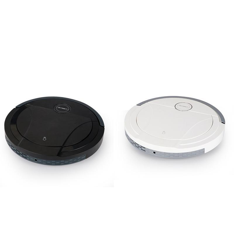 Робот Вакуумный очиститель 1800PA Мощное всасывание 3 в 1 домашних волосах Домашняя сухая мокрые мочеиспускание уборки робота зарядку вакуумный мини
