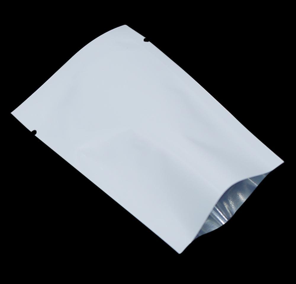 Embalaje blanco sellable Papel de calor de empaquetamiento de calor para la variedad de alimentos de grado de aluminio bolsas de vacío de aluminio Tuercas de sello de nueces Mylar Open Foi Jllbx