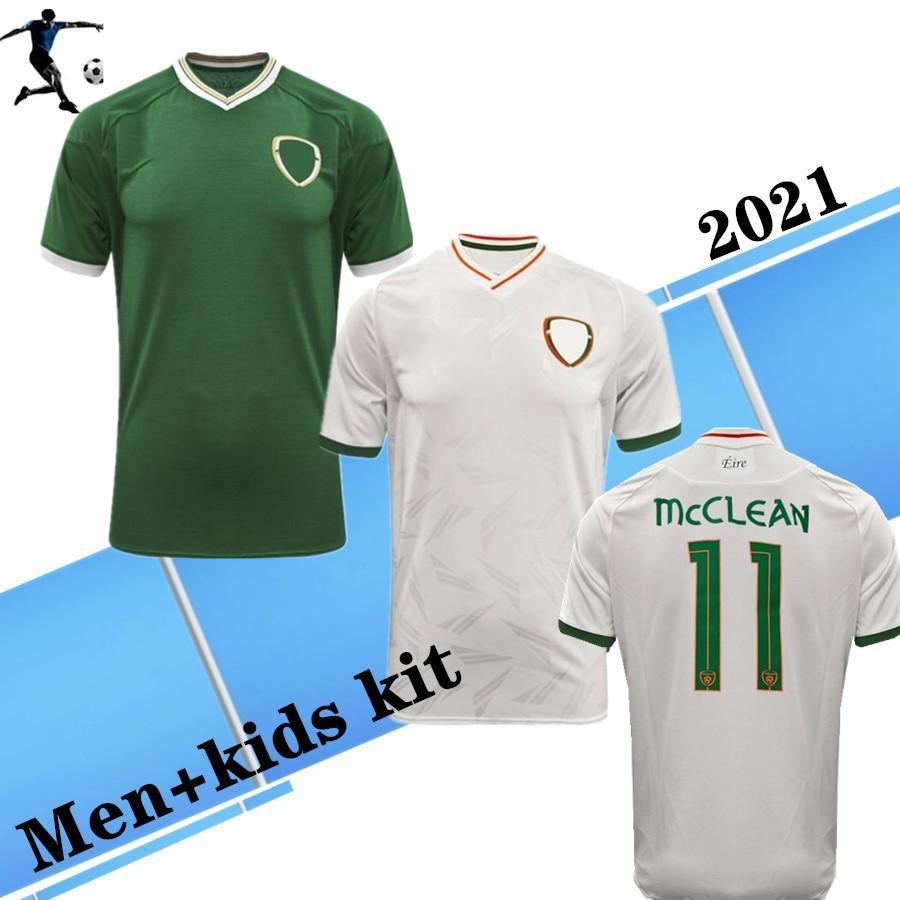 2021 Duffy Brady S.Long IRE Land European Cup Soccer Jerseys Home Away 20 21 National Team Ireland Man and Kids Kit قميص كرة القدم