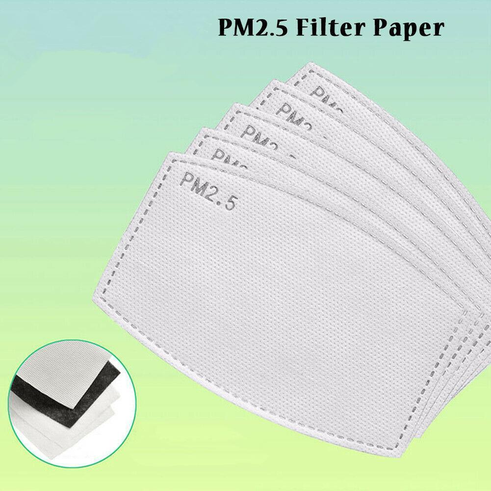 Haze PM2.5 Maskeleri Anti Yetişkin Yüz Çocuklar Maske Değiştirilebilir Filtre Pedi 5 Katmanlar Beyaz Aktif Karbon Filte