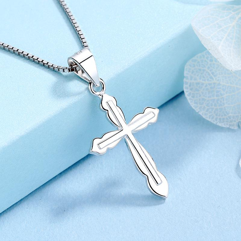 Gioielli S925 sterling argento croce collana ormone femminile ormone argento croce pendente argento ciondolo catena regalo