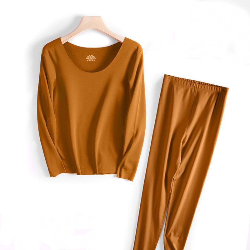 Sexy Largo Johns Winter Femenino Traje de piel de fibra reciclada coreana Ropa interior térmica para mujeres 2020 cálido