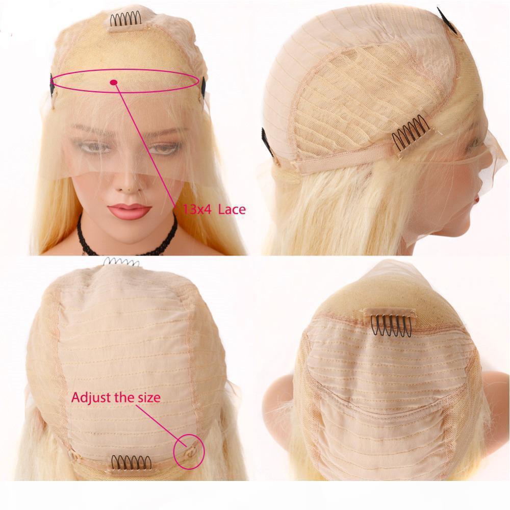 # 613 Sarışın Tam Dantel İnsan Saç Peruk 613 Sarışın Dantel Frontal İnsan Saç Peruk Brezilyalı Bakire Düz Saç Şeffaf Dantel Frontal Peruk