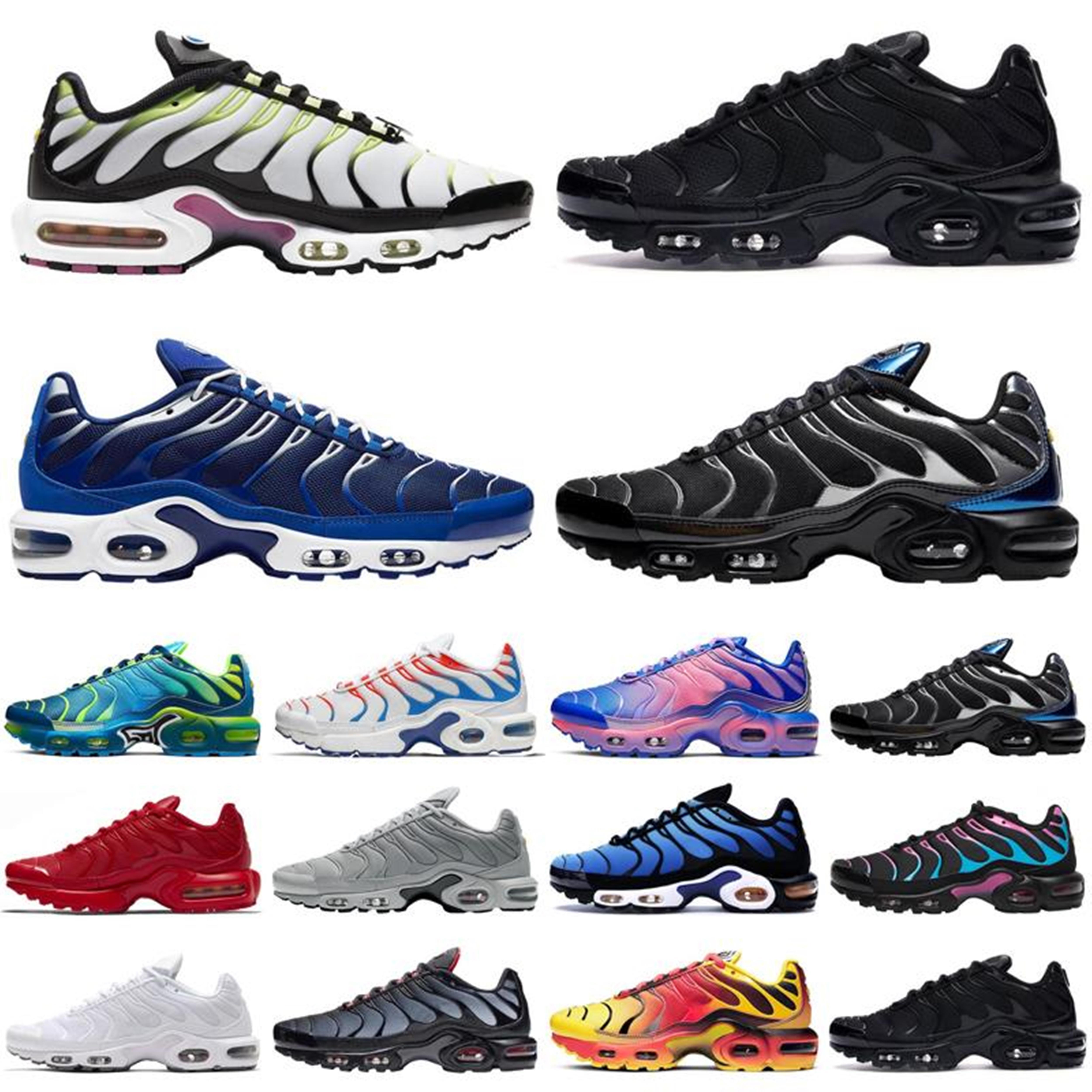 TN PLUS кроссовки мужские белые вольт черный гипер психический синий орео фиолетовый женские дышащие моды спортивные кроссовки кроссовки