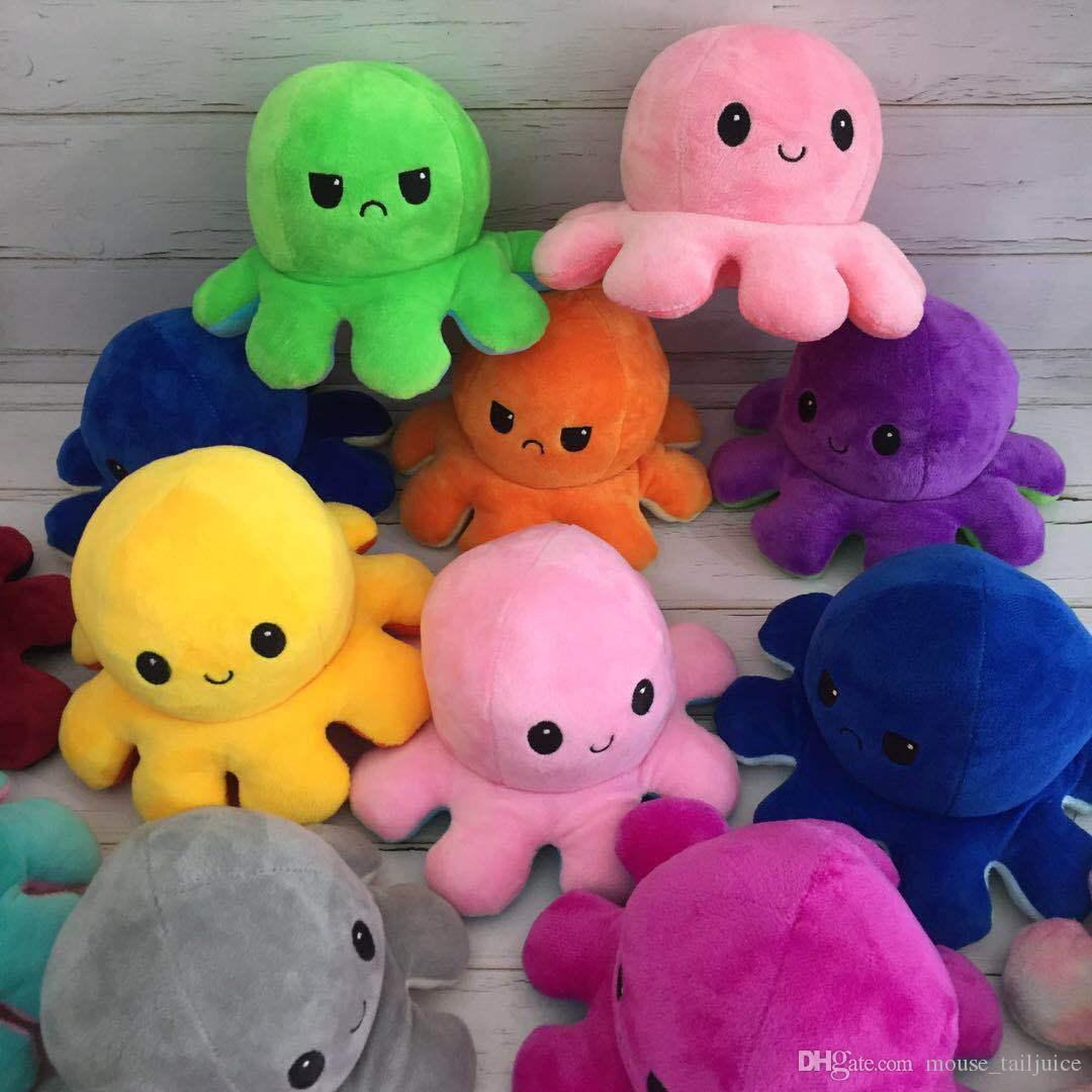 10 см Осьминог кукла Двухсторонний Flip Octopus Кукла Осьминог плюшевая кукла игрушка детская игрушка подарок фильмы телевизор плюшевые игрушки 001