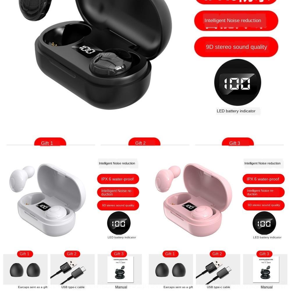0CAF A6S WirelessTWS Bluetooth 5.0 fones de ouvido Bluetooth à prova d'água Bluetooth Smart GamingPara todo telefone de fone de ouvido
