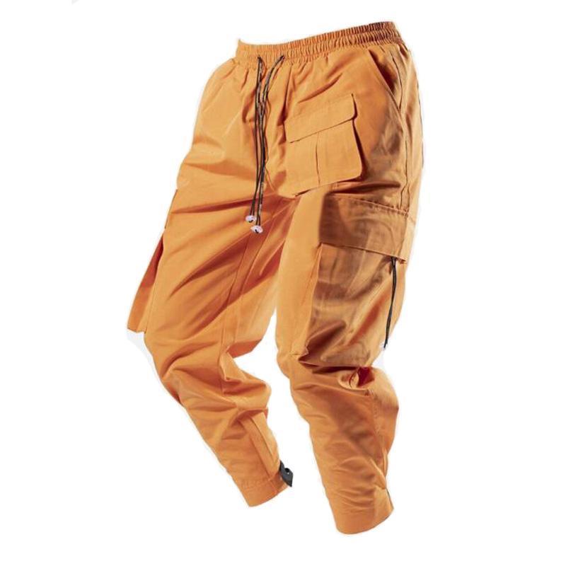 Pantalon pour homme 2021 Printemps et automne Brand de la marque de haute qualité Multi-poche en plein air de jogging en plein air mode décontracté moto