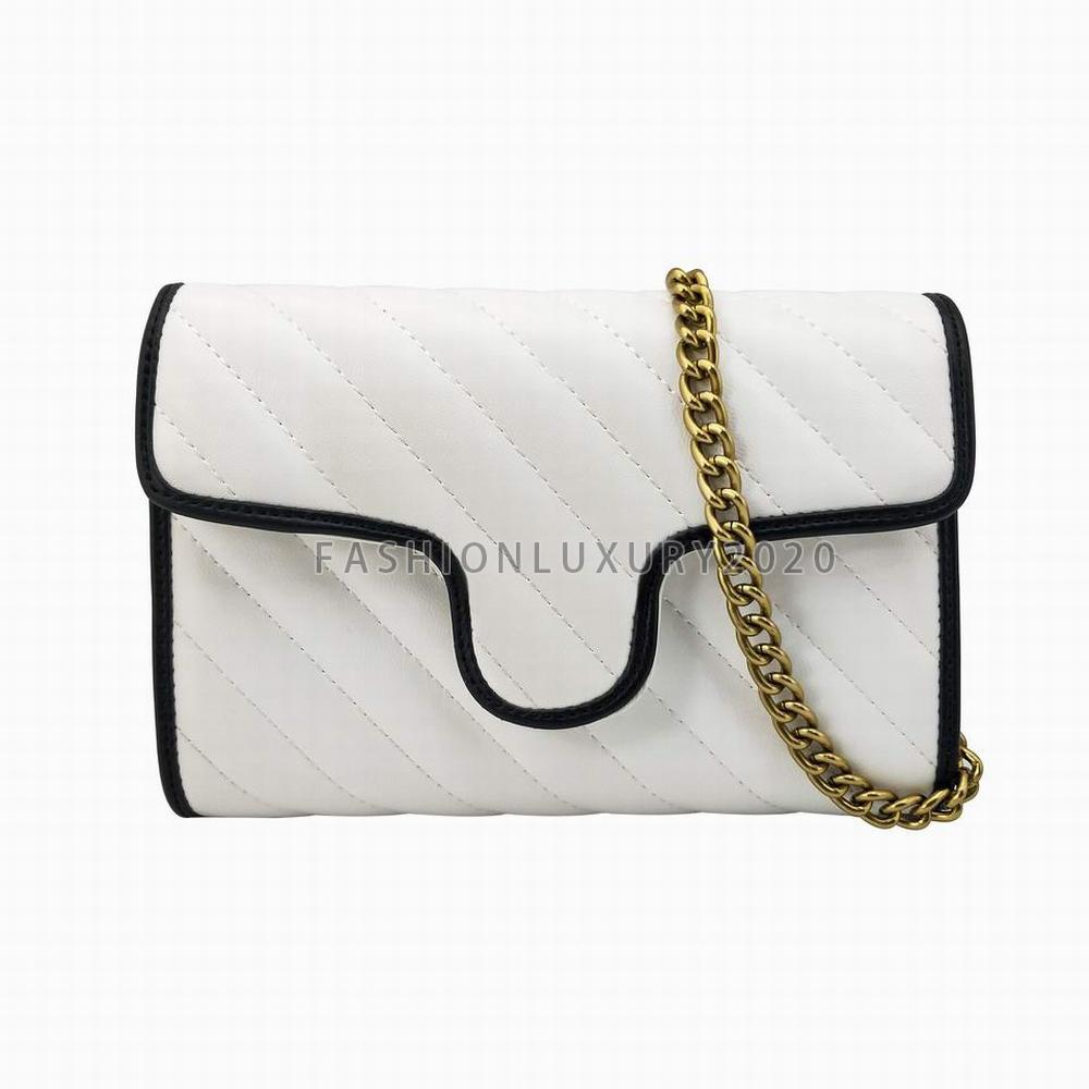 Superior Qualität Frauen Umhängetaschen Kleine Goldkette Kreuz Body Taschen PU-Leder Handtaschen Geldbörse Weibliche Messenger Tragetaschen Brieftasche 5 Farben