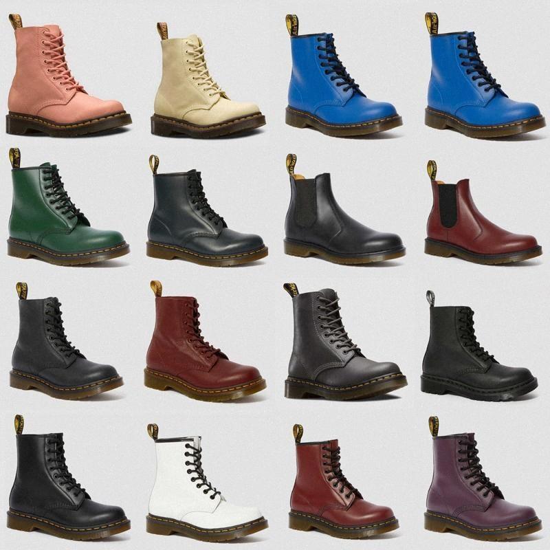 2020Hot Satış Sonbahar Kış Ayakkabı Deri Dr Ayak Bileği Çizmeler Erkek Kadın Kış Martin Çizmeler Çizmeler Doc Martens Ayakkabı Ayak Bileği Botas DMS R46U #