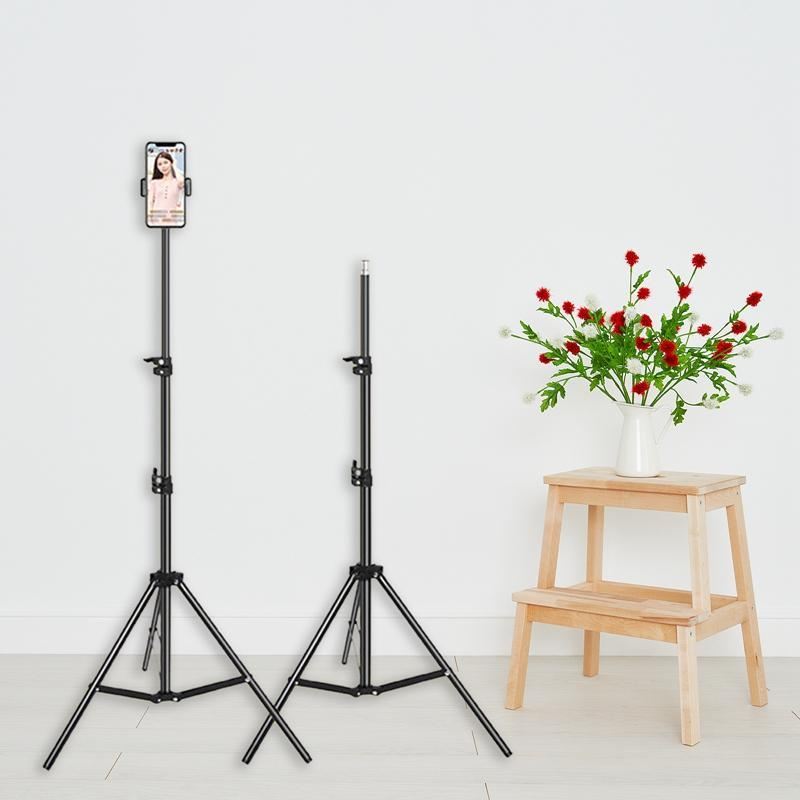 2.1M Ajustible Stable Lightweight Camera Tripé Suporte Telefone Celular Para Tirar Fotos Vídeo Indoor Live Broadcast