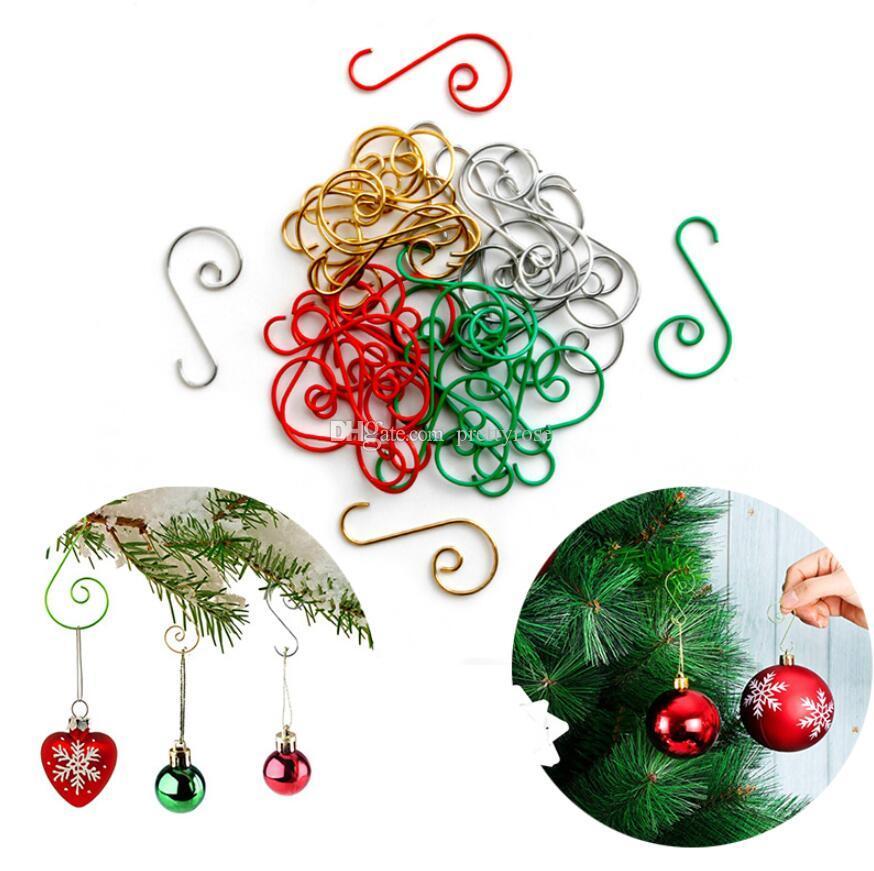 크리스마스 장식 미니 s 모양의 크리스마스 트리 걸이 매달려 주방 숟가락 팬 냄비 냄비 용기 옷걸이 문을 통해 걸쇠 걸기