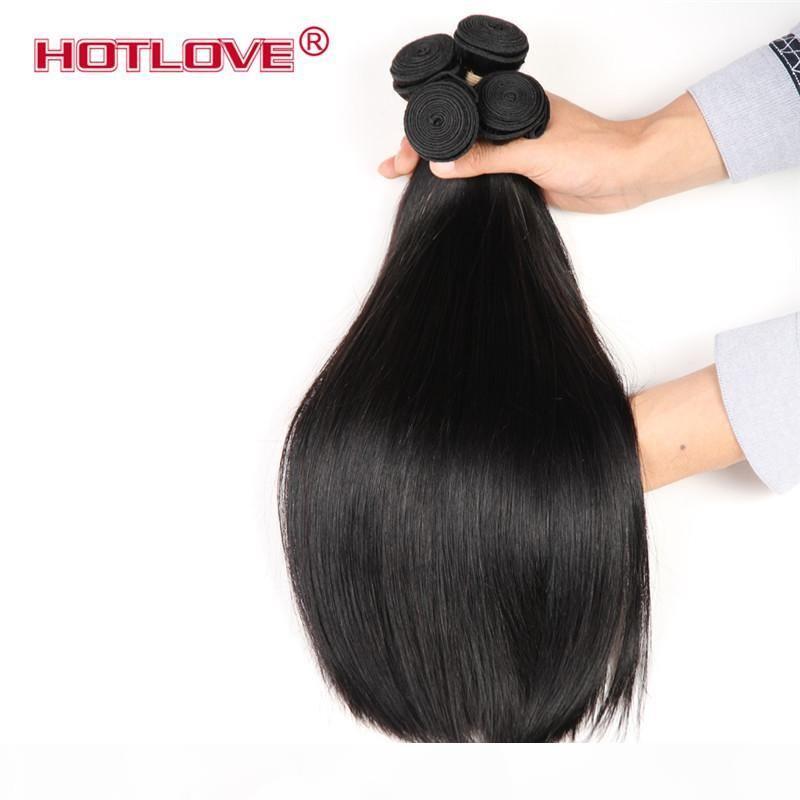 Hotlove Products Hair Brazilian Divil Directs Rebal Hair 3 4 Пучки сделки Необработанные человеческие волосы могут быть окрашены на 8-28 дюймов, не проливая ни болта