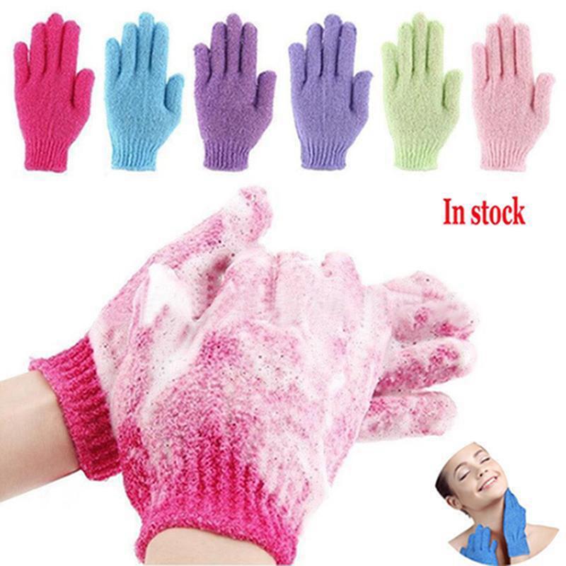 Gants de bain Essuie-mains exfoliante Gommage hydratant boue Frotter double face Spa Massage Soins du corps ensemble indépendant IIA899