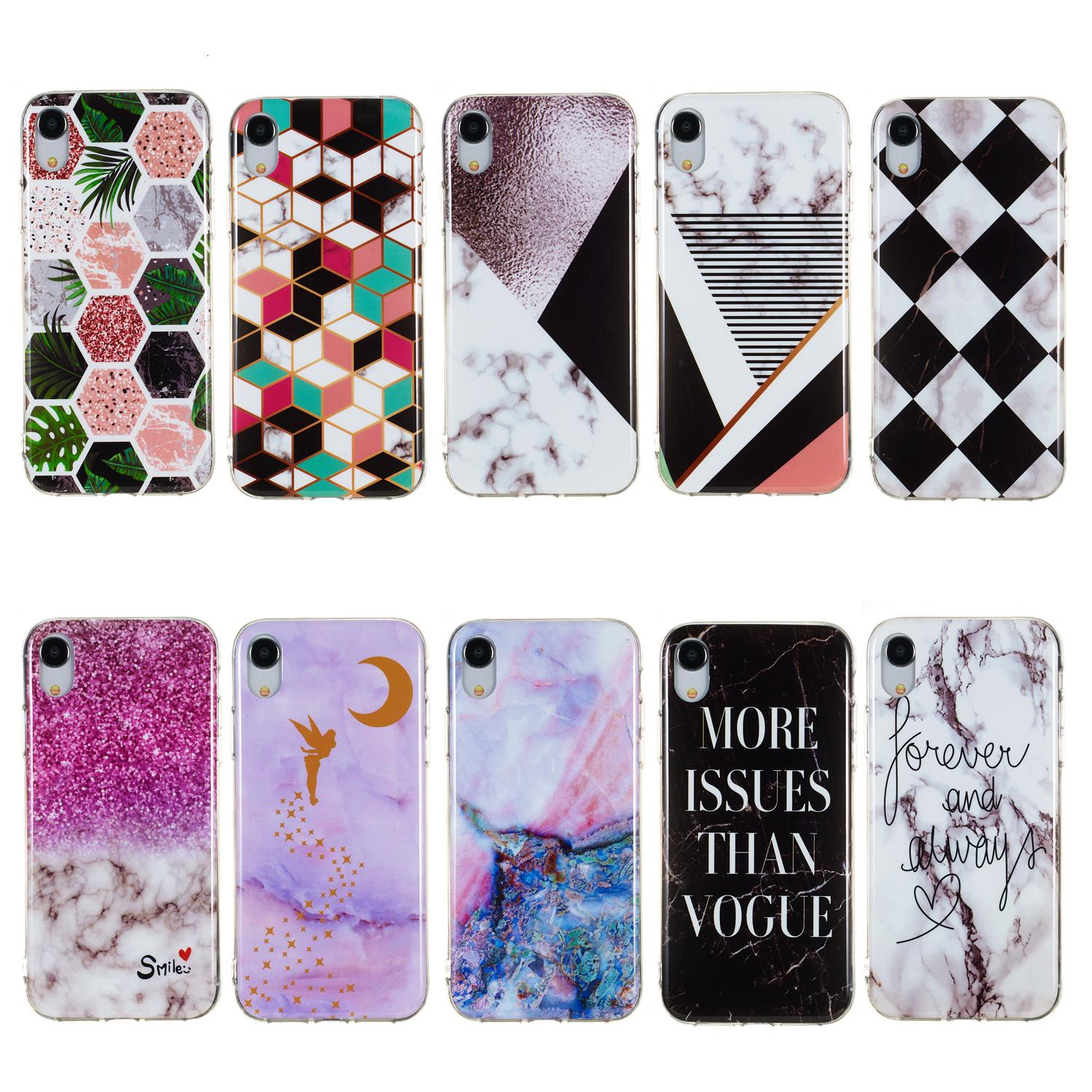 Plus XZ4 Marble Galaxy Case For Sam sung S10 Lite Huawei P30 Redmi 6 Pro Luxury Soft TPU IMD Color Hybrid Natural Stone