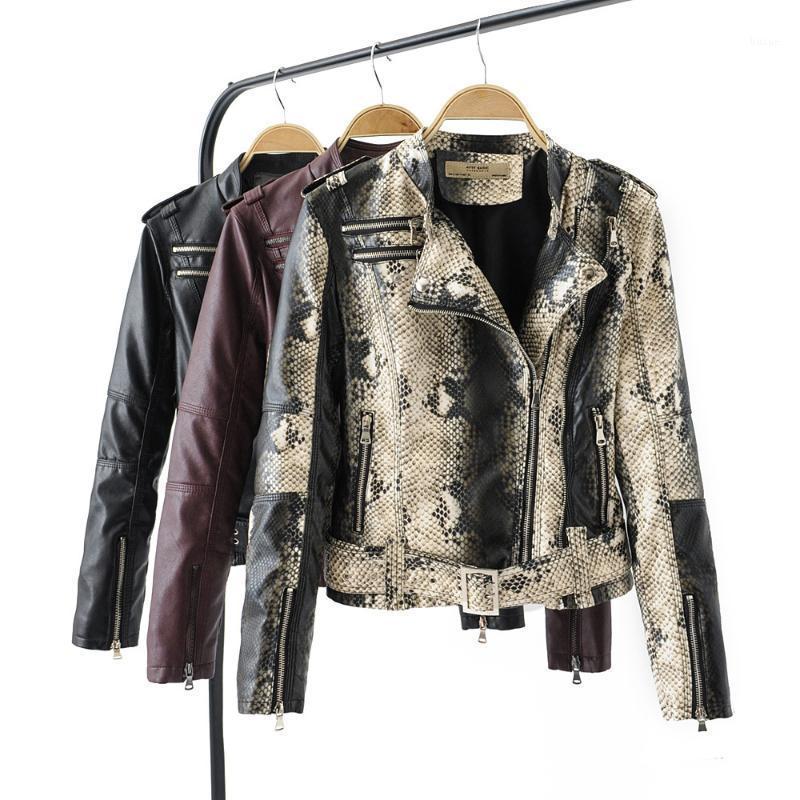 Женская кожаная куртка мотор байкер PU мода искусственная кожаная куртка для женщин 2019 весной новый S M L XL высокое качество1