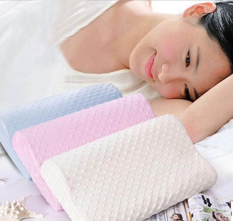Подушка для пены горячей памяти ортопедическая подушка латексной шеи подушками волокна медленный отскок мягкий массажер шейное здоровье C SQCASR NEW_DHBEST