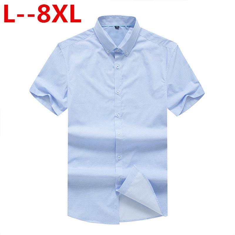 Camicie casual da uomo 8xL 6xl 4xl Camicia a manica corta Abbigliamento da uomo 2021 Summer Mens Slim Fit Plaid Camisa Masculina Cotone Chemise Homme
