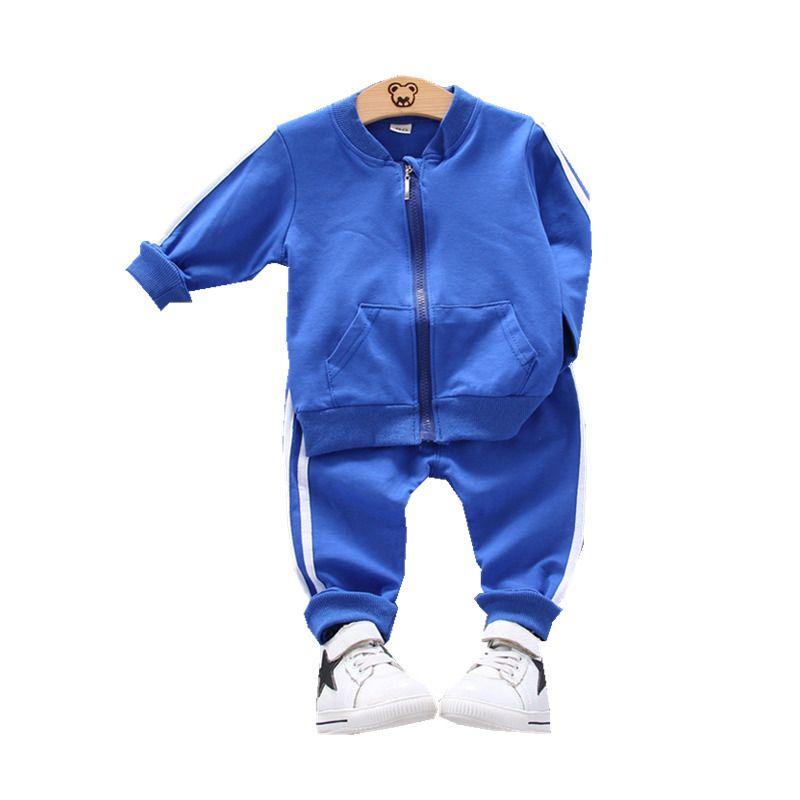 Spring Autumn Children Cotton Clothes Baby Boys Girls Sport Zipper Jacket Pants 2pcs/set Kids Toddler Fashion Casual Tracksuits Y200829