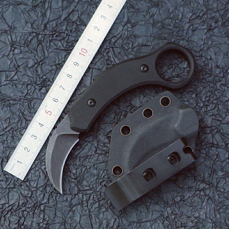 Yüksek Kalite Mini Karambit Pençe Bıçak 440C Sabit Bıçak Push EDC Açık Kendini Savunma Kamp Taktik Bıçak Cep Yürüyüş Survival Bıçak