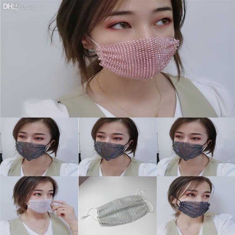 9na yüz payetli vana ağız maskesi moda .Filter süblimasyon maskesi rhinestonwashable bisiklet