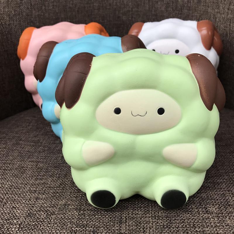 Carino jumbo colossal squishy pecore crema profumata lento aumento dello stress rilievo per bambini spremere il giocattolo casuale inviare fGgh